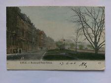 Liege Belgium Vintage colour Postcard 1906 Boulevard Frere-Orban