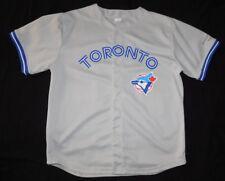 Vintage ORIGINAL TORONTO BLUE JAYS Gray Road FAN REPLICA MLB BASEBALL JERSEY XL