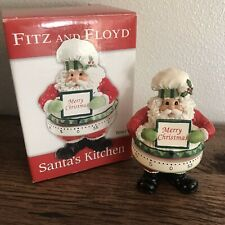 Fitz and Floyd Classics Santa's Kitchen Merry Christmas Timer With Box Santa Egg