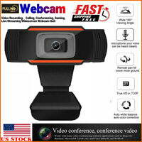 720 HD USB Webcam for PC Desktop & Laptop Web Camera with Computer Microphone US