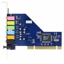 PCI 7.1 CHANNEL 3D STEREO SOUND AUDIO CARD CMI8768 CHIPSET FOR WIN 7 XP VISTA