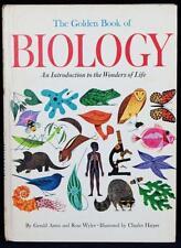 RARE 1967 The Golden Book of Biology SIGNED by CHARLES HARPER Golden Press VG+