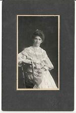 Mature woman in magnificent gown - by Lyons of Toronto, ON - 1900s?