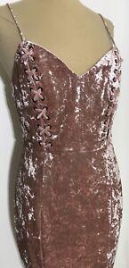Guess Los Angeles Gennifer Velvet Shadow Gray Dress Spaghetti Strap NWT Size L