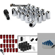 20pcs TUNER WHEEL LOCK LUG NUTS 8 POINT KEY 12X1.5mm ACORN OPEN END