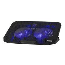 "Dual 14cm Fan Laptop Cooler Cooling Pad Stand 1400rpm 2 USB Port 12"" 13"" 15.6"""