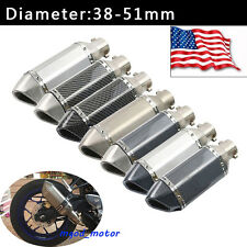 Universal Motorcycle Exhaust Muffler Pipe with Removable DB killer Slip on 51mm