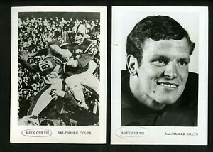 Mike Curtis LOT of FIVE Press Photos Baltimore Colts