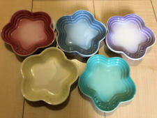 Le Creuset Mini Flower Plate Set of 5 In Box New