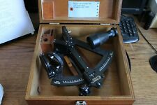 Antique Nautical Maritime Sextant Hezzanith Heath & Co. with Wooden Box