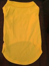 L BRIGHT YELLOW Blank T-Shirt Dog clothes NWT NEW! Make Your Own DIY Large