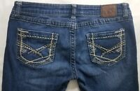 Buckle BKE Madison Boot Cut Womens Denim Blue Jeans Size 28 x 28 Dark Wash Low R