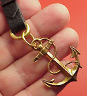 Vintage Brass Ship Anchor Rope 1 1/2 in length  Pocket Watch Fob Key chain
