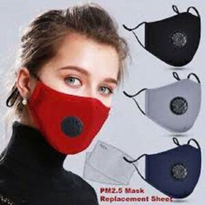 MASQUE DE PROTECTION LAVABLE LIVRE AVEC 5 FILTRES A CHARBON PM2.5 FRANCE