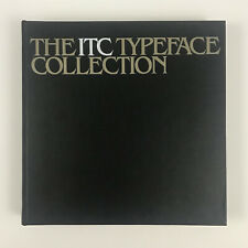The ITC Typeface Collection 1980 Hardcover Book 12.5x12.5 Fonts Graphic Design