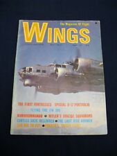 Wings. The Magazine of Flight. Volume 1. Number 1.  August 1971