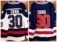 Jim Craig #30 1980 USA Olympic Hockey Miracle On Ice USA Men's Hockey Jersey