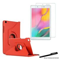 Housse Etui Rouge 360° pour Samsung Galaxy Tab A 8.0 T290 + Vitre de protection