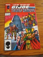 000 VTG G.I. Joe and the Transformers Comic Book #4 April 1987 Marvel Nice Cond