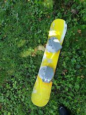 ESP Snowboard Freeride 110 with Bindings ~ yellow