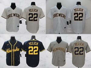 Milwaukee Brewers #22 Christian Yelich Cool Base Men's Stitched Jersey