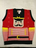 Merry Christmas Tag To: From: Ugly Sweater Vest Nutcracker Size Large NWOT.