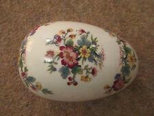 "Vintage British Coalport Bone China ""Ming Rose"" Medium Ornamental Egg"