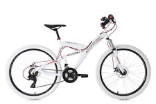 Vtt tout suspendu 26'' Topspin Blanc-rouge TC 46 cm KS Cycling 565m