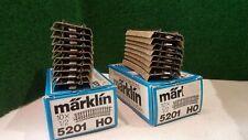 MARKLIN échelle ho 18 rails courbe M en boite réf : 5201