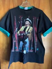Vtg Alan Jackson On Tour Double Sided Black Teal Graphic T-Shirt Xl
