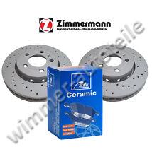Sportbremsscheiben + ATE CERAMIC Bremsbeläge hinten hinten VW  232x9mm