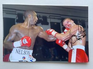 """Boxing Johnny Nelson signed 6"""" x 4"""" photograph"""