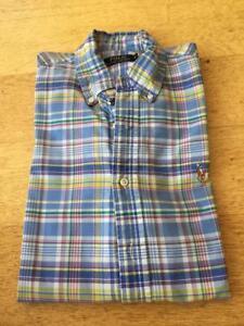 POLO RALPH LAUREN  Check Long Sleeved Shirt MEDIUM