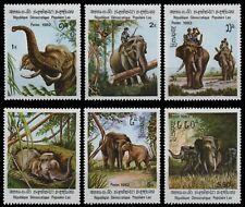 Laos 1982 - Mi-Nr. 523-528 ** - MNH - Elefanten / Elephants