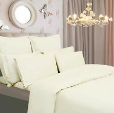 100% Egyptian Cotton Fitted Sheet Duvet Cover Bedding Set Single Double King