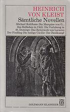 *~ GOLDMANN Klassiker - Heinrich von KLEIST - Sämtliche NOVELLEN -   tb