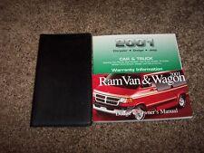 2001 Dodge Ram Van & Wagon Owner Operator Manual Passenger 3.9L 5.2L 5.9L V6 V8