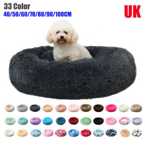 Pet Dog Cat Large Beds Warm Soft Plush Round Nest Comfy Sleeping Kennel Cave Pad