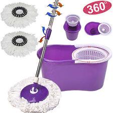 Magic spin microfibre spinning mop avec seau & 2 têtes rotatif simple étage mop