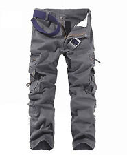 Men's Combat Cotton Cargo ARMY Pants Military Camouflage Camo Trousers 32 34 36