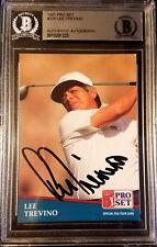 LEE TREVINO PGA Signed 1991 Pro Set Golf Card #4 BECKETT Authentic psa Auto!