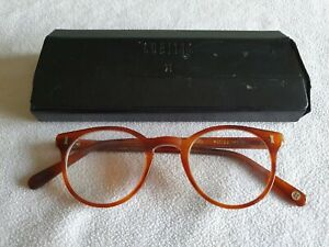 Cubitts brown glasses frames. Herbrand. With case.