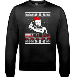 SCI-FI CHRISTMAS JUMPER Make it Snow XMAS Unisex SCI-FI Sweatshirt