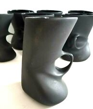 Peter Saenger Matte Black Studio Art Pottery Mug VTG Ceramic Coffee Cup (1 Each)