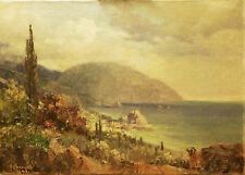 Marina - COSTA MEDITERRANEA - Dipinto Originale a Olio su Tela50x70 cm