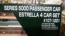 Set de 4 coches Pasajeros 5000 Renfe Estrella Kato Escala n como nuevos.