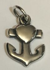 James Avery Heart Cross Anchor Charm Sterling Silver