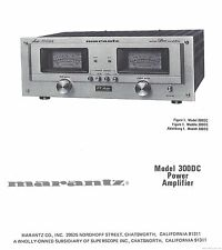 Marantz 300DC Power Amplifier Owners Manual