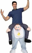 Carry Me Baby Costume Adult Mens Funny Ride On Shoulders Humorous - Fast -