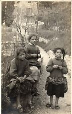 Real Photo Postcard Three Ticinese Girls 1920 Basel Postmark Swiss Stamp (198RP)